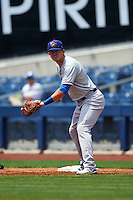 Midland RockHounds first baseman Ryon Healy (25) during a game against the Tulsa Drillers on June 3, 2015 at Oneok Field in Tulsa, Oklahoma.  Midland defeated Tulsa 5-3.  (Mike Janes/Four Seam Images)
