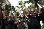 INDIA, KERALA JUNE 2014:<br />Soni Resal, 2013 kanthari graduate, now intake coordinator at kanthari in a  Theatre play at Khantari campus, June 2014 @Giulio Di Sturco