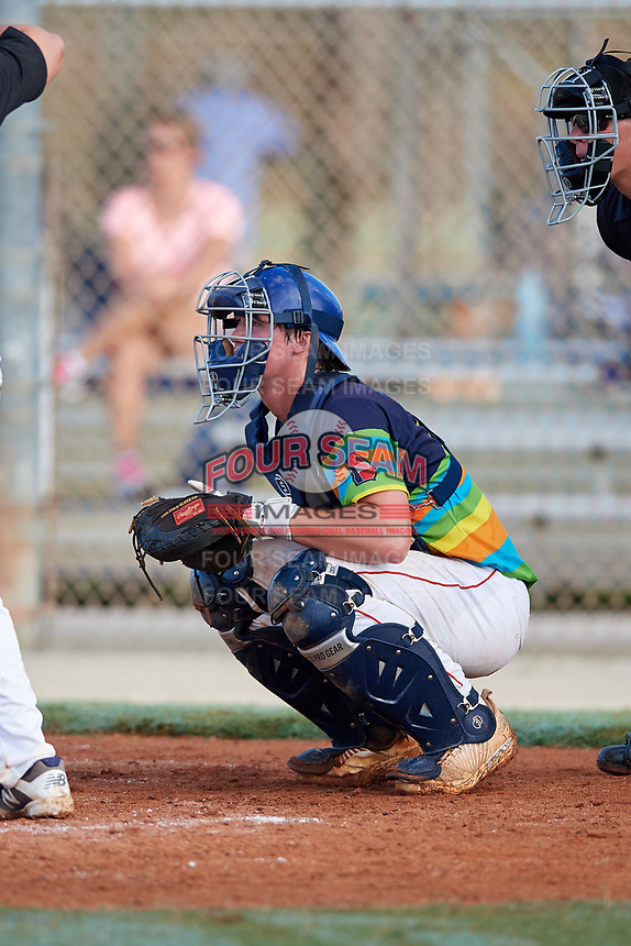 Nathan Smith during the WWBA World Championship at the Roger Dean Complex on October 21, 2018 in Jupiter, Florida.  Nathan Smith is a third baseman / catcher from Thomasville, Georgia who attends Thomasville High School.  (Mike Janes/Four Seam Images)