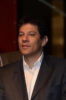 SAO PAULO, 09 DE JULHO DE 2012 -  HADDAD CONCUT - O candidato Fernando Haddad em cerimonia de abertura do 11º Congresso Nacional da Central Única dos Trabalhadores (CONCUT), no expo transamerica, regiao sul da capital na noite desta segunda feira. FOTO: ALEXANDRE MOREIRA - BRZIL PHOTO PRESS