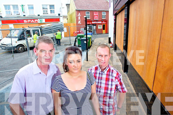 Stephen Quinlan Alexa McCalmount and Kieran Belshaw who rescued a person from the building by breaking down a door just after the explosion in Killarney on Saturday morning.