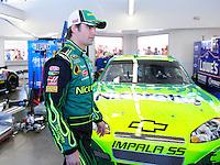 Feb 29, 2008; Las Vegas, NV, USA; NASCAR Sprint Cup Series driver Jeff Gordon during practice for the UAW Dodge 400 at Las Vegas Motor Speedway. Mandatory Credit: Mark J. Rebilas-US PRESSWIRE
