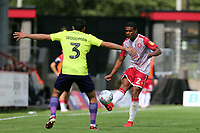 Luther Wildin of Stevenage and Craig Woodman of Exeter City during Stevenage vs Exeter City, Sky Bet EFL League 2 Football at the Lamex Stadium on 10th August 2019