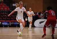 Britney-Lee Nicholson in action during the international women's futsal match between the NZ Futsal Ferns and New Caledonia at Baypark Arena in Mount Maunganui, New Zealand on Thursday, 14 September 2017. Photo: Dave Lintott / lintottphoto.co.nz