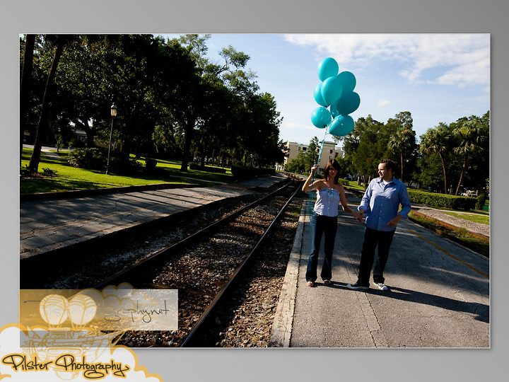 Jess Seeley and Blake Steck engagement session on Saturday, June 27, 2009, in downtown Winter Park. The wedding of Jessica Seeley and Blake Steck. (Chad Pilster, http://www.PilsterPhotography.net)
