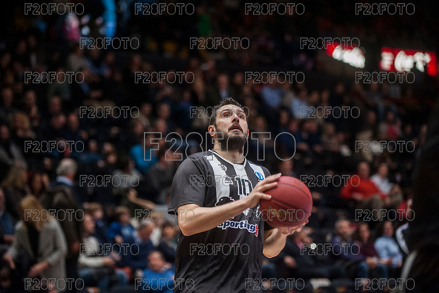 VALENCIA, SPAIN - JANUARY 6: Georgios Dedas during EUROCUP match between Valencia Basket and PAOK Thessaloniki at Fonteta Stadium on January 6, 2015 in Valencia, Spain