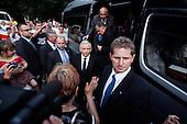 BIALYSTOK, POLAND, JULY 1, 2010:.Jaroslaw Kaczynski supporters, on his presidential campaign rally..(Photo by Piotr Malecki / Napo Images)..BIALYSTOK, 1/07/2010:.Kampania wyborcza Jaroslawa Kaczynskiego. Zwolennicy Kaczynskiego. .Fot: Piotr Malecki / Napo Images.