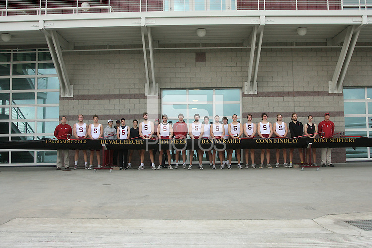 9 March 2006: Picture of the team during crew practice at the Stanford Boathouse in Redwood Shores, CA.