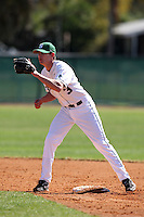 February 26, 2010:  Shortstop Jonathan Roof (3) of the Michigan State Spartans during the Big East/Big 10 Challenge at Raymond Naimoli Complex in St. Petersburg, FL.  Photo By Mike Janes/Four Seam Images