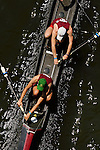 A four man crew from Temple rows down the river as they compete during the 68th Dad Vail Regatta on the Schuylkill River in Philadelphia, Pennsylvania on May 12, 2006........