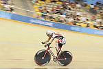November 15 2011 - Guadalajara, Mexico:  Jaye Milley competing in the Men's C1-C5 1k in the Panamerican Velodrome at the 2011 Parapan American Games in Guadalajara, Mexico.  Photos: Matthew Murnaghan/Canadian Paralympic Committee