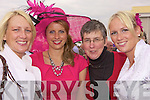 For Ladies Day at the Listowel Races last Friday were L-R Grainne Kelly (Tarbert), Lisa O'Leary (Killarney), Kay Gorman (Lisselton) and Mairead Holly Edan (Glin).
