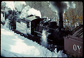 D&amp;RGW #487 K-36 double-heading pushing Rotary OY.<br /> D&amp;RGW  Chama - Cumbres ?, NM