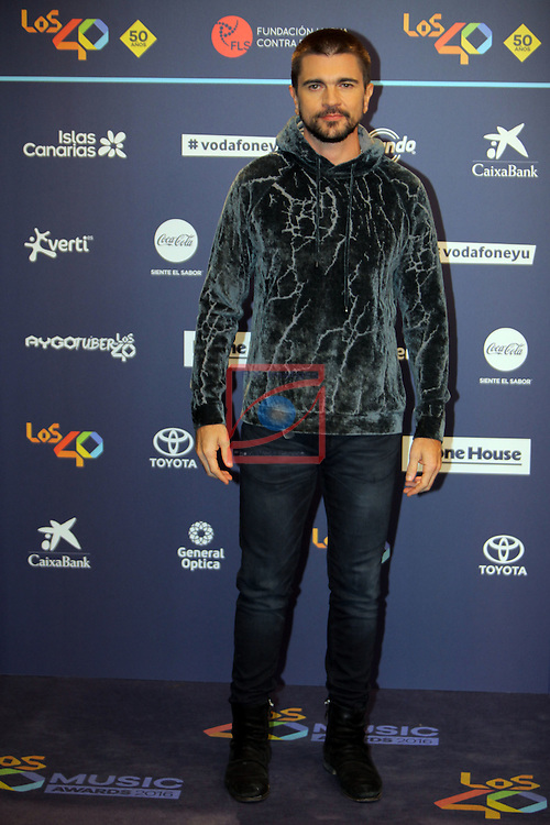 Los 40 MUSIC Awards 2016 - Photocall.<br /> Juanes.