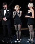 Amy Spanger & Amra-Faye Wright with Billy Ray Cyrus making his Broadway Debut Curtain Call  in 'Chicago' at the Ambassador Theatre in New York City on 11/05/2012
