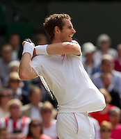 Andy Murray..Tennis - Grand Slam - The Championships Wimbledon - AELTC - The All England Club - London - Sun July 8h 2012. .© AMN Images, 30, Cleveland Street, London, W1T 4JD.Tel - +44 20 7907 6387.mfrey@advantagemedianet.com.www.amnimages.photoshelter.com.www.advantagemedianet.com.www.tennishead.net