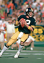 Pittsburgh Steelers Terry Bradshaw(12) during a game from his 1978 season with the Pittsburgh Steelers. Terry Bradshaw played 14 years, all for the Pittsburgh Steelers, was a 3-time Pro Bowler, 1-time first team Pro Bowler and was inducted to the Pro Football Hall of Fame in 1989.(SportPics)