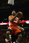 23 December 2008:  Illini's Demetri McCamey (32) drives to the basket in first half action.  The University of Missouri and the University of Illinois competed in the annual Busch Braggin' Rights basketball game at the Scottrade Center in downtown St. Louis, Missouri on Tuesday December 23, 2008...