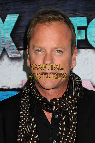 Kiefer Sutherland.Fox All-Star Party - Summer 2012 held at Private Location, West Hollywood, California, USA..July 23rd, 2012.headshot portrait black brown polka dot scarf white .CAP/ADM/BP.©Byron Purvis/AdMedia/Capital Pictures.