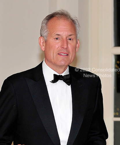 W. James (Jim) McNerney, Jr., Chairman, President and CEO, The Boeing Company, arrives for the State Dinner in honor of President Hu Jintao of China at the White House In Washington, D.C. on Wednesday, January 19, 2011. .Credit: Ron Sachs / CNP