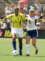 Aly Wagner, USWNT vs Brazil.