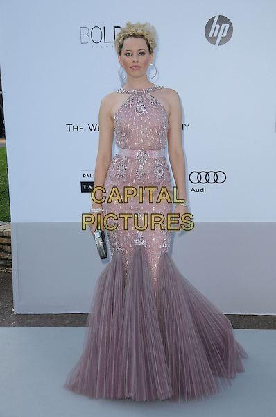 ELIZABETH BANKS.arrivals at amfAR's Cinema Against AIDS 2010 benefit gala at the Hotel du Cap, Antibes, Cannes, France during the Cannes Film Festival.20th May 2010.amfAR full length pink dusky fishtail dress silver beaded long maxi purple lilac pleated jewel encrusted gem .CAP/CAS.©Bob Cass/Capital Pictures.