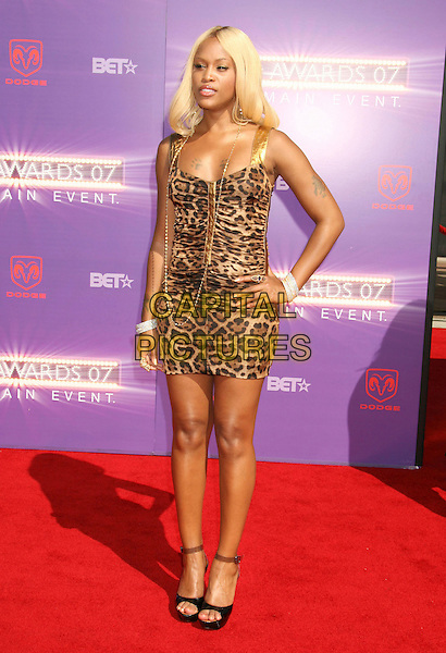 EVE.2007 BET Awards held the at Shrine Auditorium, Los Angeles, California, USA..June 26th, 2007.full length hand on hip leopard print bracelets tattoos .CAP/ADM/RE.©Russ Elliot/AdMedia/Capital Pictures
