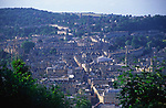 A072KT View over the centre of Bath to Lansdown from Beechen Cliff, Somerset, England