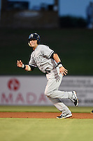 Tampa Yankees first baseman Matt Snyder (29) runs to third during a game against the Lakeland Flying Tigers on April 9, 2015 at Joker Marchant Stadium in Lakeland, Florida.  Tampa defeated Lakeland 2-0.  (Mike Janes/Four Seam Images)