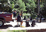 Divers gather to discuss their upcoming dive off the lagoon at LauLau Bay in Saipan.  .Robert Gilhooly Photo