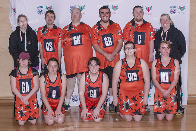 AAA La Trobe Valley Reserves<br /> Netball Victoria State Titles 2016 <br /> Sunday 9th October<br /> Photo: Mark Witte/Treeby Images