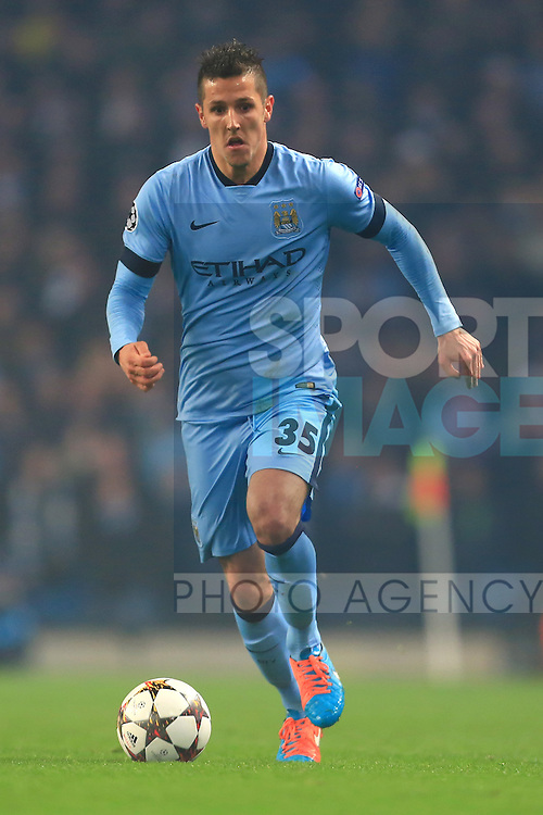 Stevan Jovetic of Manchester City - Manchester City vs. CSKA Moscow - UEFA Champions League - Etihad Stadium - Manchester - 05/11/2014 Pic Philip Oldham/Sportimage