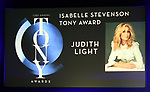 The Isabelle Stevenson Tony Award to Judith Light during The 73rd Annual Tony Awards Nominations Announcement on April 30, 2019 in New York City.
