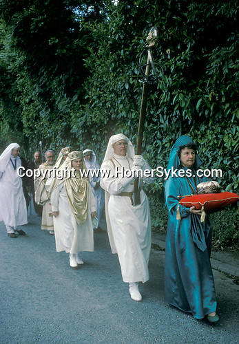 GORSEDD OF BARDS, BARDS OF THE WELSH GORSEDD, BALA, WALES. UK. Most members of the Gorsedd are poets, writers, musicians and artists, who usually join when they win one of the Eisteddfod's main competition