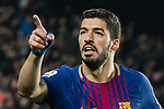 Luis Alberto Suarez Diaz of FC Barcelona celebrates after scoring his goal during the La Liga 2017-18 match between FC Barcelona and Girona FC at Camp Nou on 24 February 2018 in Barcelona, Spain. Photo by Vicens Gimenez / Power Sport Images