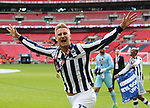 Millwall's Byron Webster celebrates at the final whistle during the League One Play-Off Final match at Wembley Stadium, London. Picture date: May 20th, 2017. Pic credit should read: David Klein/Sportimage