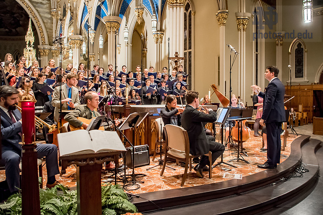 November 17, 2017; Folk Choir annual Concert for the Missions (Photo by Matt Cashore/University of Notre Dame)
