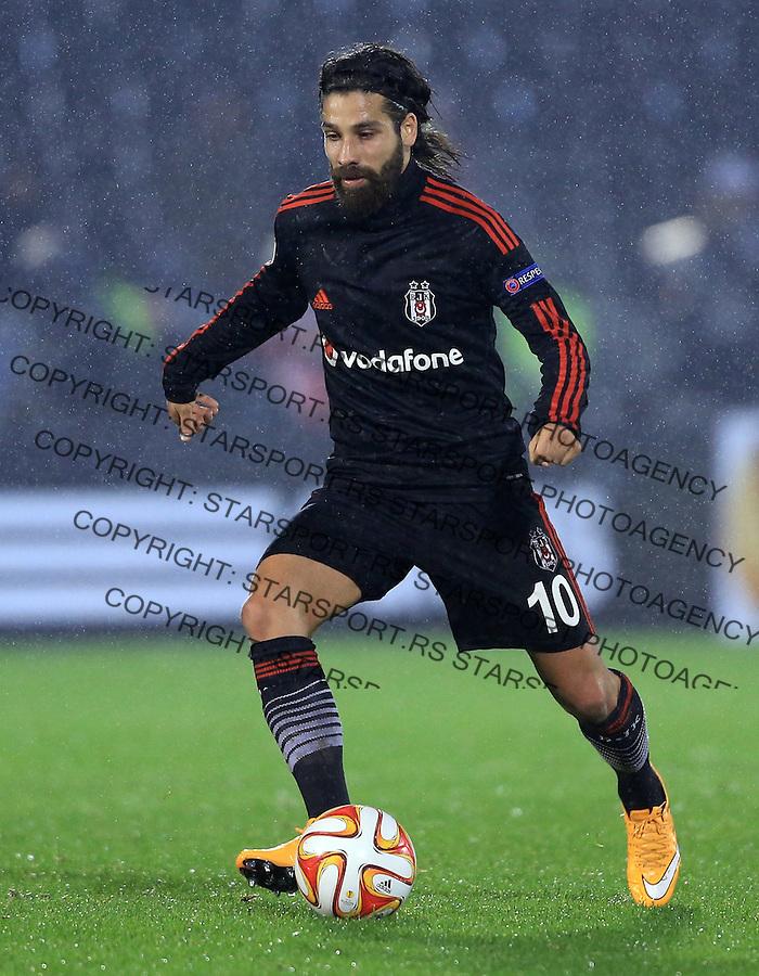 Fudbal Football Soocer<br /> UEFA Europe League <br /> Partizan v Besiktas<br /> Olcay Sahan<br /> Beograd, 23.09.2014.<br /> foto: Srdjan Stevanovic/Starsportphoto&copy;