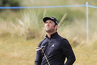 Jon Rahm (ESP) chips onto the 14th green during Thursday's Round 1 of the 2018 Dubai Duty Free Irish Open, held at Ballyliffin Golf Club, Ireland. 5th July 2018.<br /> Picture: Eoin Clarke | Golffile<br /> <br /> <br /> All photos usage must carry mandatory copyright credit (&copy; Golffile | Eoin Clarke)