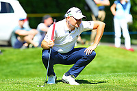 James Morrison on the 4th green during the BMW PGA Golf Championship at Wentworth Golf Course, Wentworth Drive, Virginia Water, England on 26 May 2017. Photo by Steve McCarthy/PRiME Media Images.