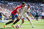 Pepe of Real Madrid battles for the ball with Unai Garcia of Osasuna during the La Liga match between Real Madrid and Osasuna at the Santiago Bernabeu Stadium on 10 September 2016 in Madrid, Spain. Photo by Diego Gonzalez Souto / Power Sport Images