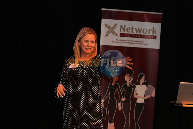 Samantha Kelly, The Funky Goddess speaking at Network Ireland National Conference and Businessswomen of the Year Awards 2012 - Friday 28th September in Drogheda, Co. Louth..Photo NEWSFILE/Jenny Matthews.