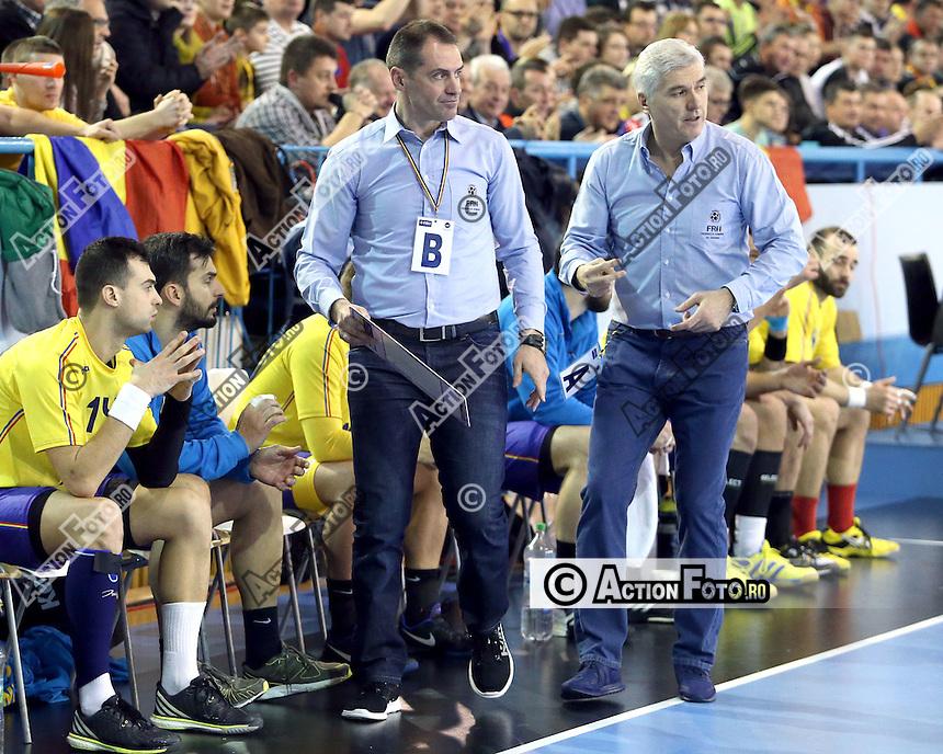 Aihan Omer antrenor principal si Sandu Iacob antrenor secund al nationalei Romaniei