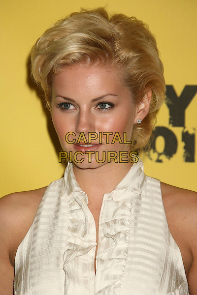 "ELISHA CUTHBERT.Spike TV's ""Guy Choice"" Awards held at Radford Studios, Studio City, California, USA..June 9th, 2007.headshot portrait cream ruffle collar.CAP/ADM/RE.©Russ Elliot/AdMedia/Capital Pictures"