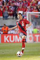 Sacha Kljestan (16) of the United States. The men's national team of Spain (ESP) defeated the United States (USA) 4-0 during a International friendly at Gillette Stadium in Foxborough, MA, on June 04, 2011.
