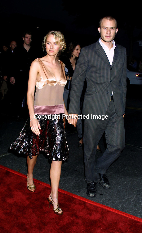 ©2002 KATHY HUTCHINS/ HUTCHINS PHOTO.THE FOUR FEATHERS PREMIERE.WESTWOOD,CA. 9/17/02.NAOMI WATTS AND HEATH LEDGER