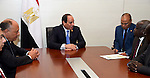 Egypt's President Abdel Fattah al-Sisi meets with Foreign Minister of South Sudan, in Ethiopia's capital Addis Ababa, January 31, 2016. Photo by Egyptian President Office