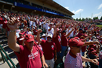 NWA Democrat-Gazette/ANDY SHUPE<br /> Arkansas fans call the Hogs Saturday, June 8, 2019, during the Razorbacks' 11-2 win over Ole Miss in the NCAA Super Regional game at Baum-Walker Stadium in Fayetteville. Visit nwadg.com/photos to see more photographs from the game.