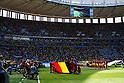 Two team group line-up, JULY 5, 2014 - Football / Soccer : FIFA World Cup Brazil 2014 Quarter-finals match between Argentina 1-0 Belgium at Estadio Nacional in Brasilia, Brazil. (Photo by D.Nakashima/AFLO)