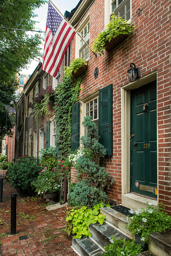 Townhouse, Jessup Street, Old City, Philadelphia, Pennsylvania, USA